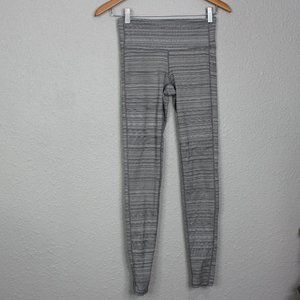 Athleta Grey Striped Textured Leggings sz XS
